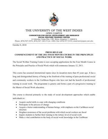 The University of the West Indies - Open Campus - Uwi.edu