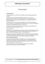 """Fallbeispiel """"Kennzahlen"""" Übungsaufgabe - IG Metall"""