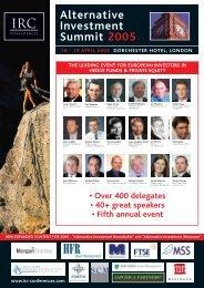 AIS2005 brochure.pdf - Hedge Fund Conferences