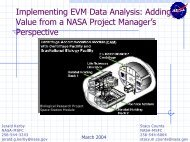 Implementing EVM Data Analysis - NASA