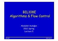 BIL108E Algorithms & Flow Control