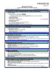 Scheda di sicurezza Venus (PDF) - Heraeus