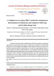 A Validated reverse phase HPLC method for simultaneous ...