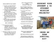 Exam Survival Kit for Students - University of the Cumberlands