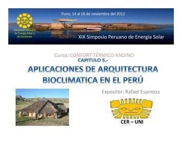 Aplicaciones en el Perú - Asociación Peruana de Energía Solar y ...