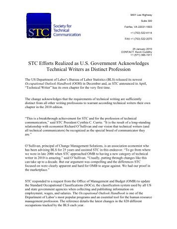 STC Efforts Realized as U.S. Government Acknowledges Technical ...