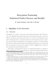 Encryption Possessing Statistical Perfect Secrecy and ... - CiteSeerX