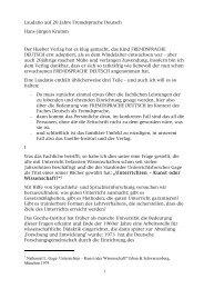 1 Laudatio auf 20 Jahre Fremdsprache Deutsch Hans ... - Hueber