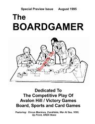 The Boardgamer Magazine - Preview Issue ... - WarGameVault