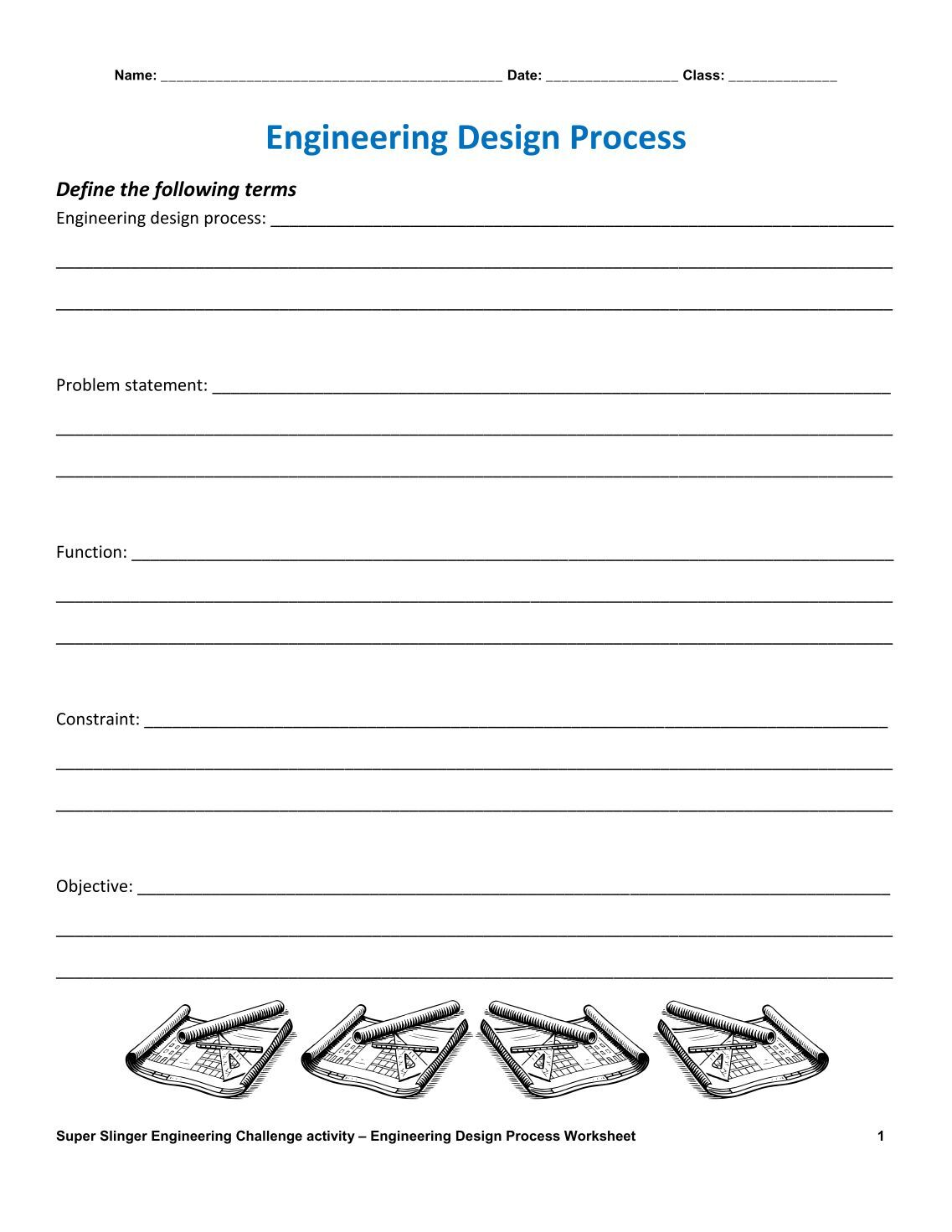 Uncategorized Engineering Design Process Worksheet 180 free magazines from teachengineering org org