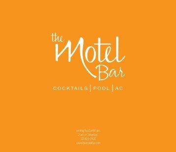 Click the image below for a PDF menu - The Motel Bar