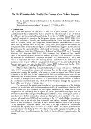 The IS-LM Model and the Liquidity Trap Concept: From ... - Anpec