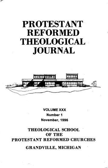 journal - Protestant Reformed Churches in America