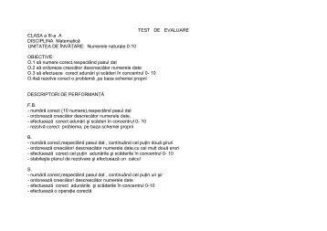 IULIANA LIXANDRU-Test de evaluare matem.cls.III