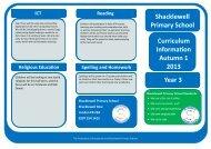 Curriculum Information Leaflet - Year 3 Autumn 1 2013