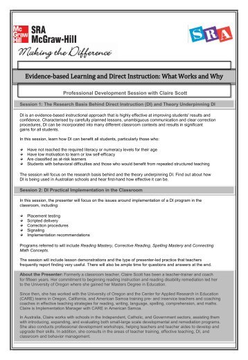 Evidence-based Learning and Direct Instruction: What Works and Why