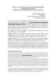 Evaluaciones ilegales y recursos de alzada