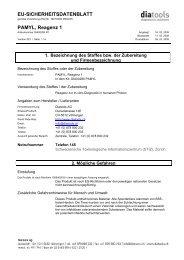 EU-SICHERHEITSDATENBLATT PAMYL, Reagenz 1 - diatools AG