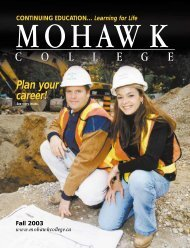 Mohawk College Fall 2003 Continuing Education Catalogue