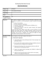 HTM4307 - School of Hotel & Tourism Management - The Hong ...