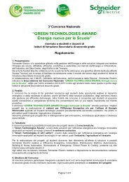 Regolamento Concorso Green Technologies Award 2013 - Miur