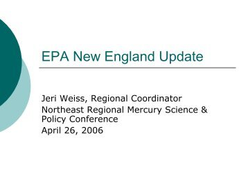EPA New England Update - NEIWPCC