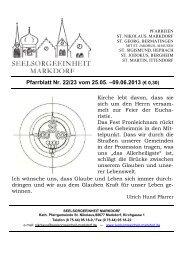 Pfarrblatt Nr. 22/23 vom 25.05. –09.06.2013 (€ 0,30)