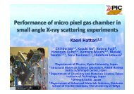 Performance of micro pixel gas chamber in small angle X-ray ...