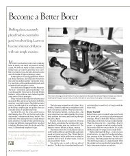 Become a Better Borer - Popular Woodworking Magazine