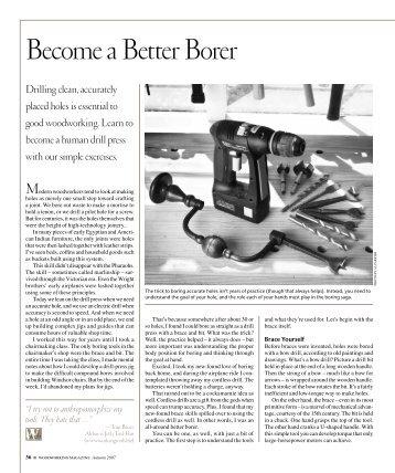 Become a Better Borer - Popular Woodworking Magazine