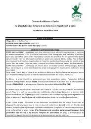 Termes de référence – Etudes La prostitution des mineurs et ses ...