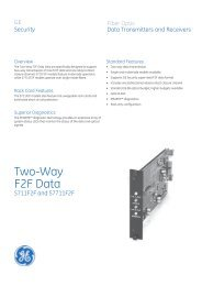 Data Sheet -- Two-Way F2F Data - Interlogix