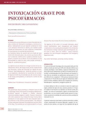IntoxIcacIón grave por psIcofármacos IntoxIcacIón grave por ...