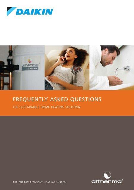 Altherma FAQs - Artizan Heating
