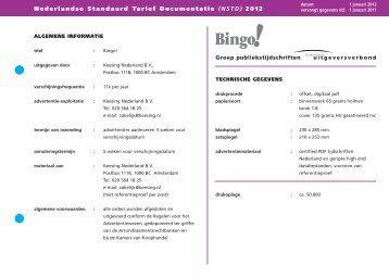 Nederlandse Standaard Tarief Documentatie (NSTD ... - Magazines.nl
