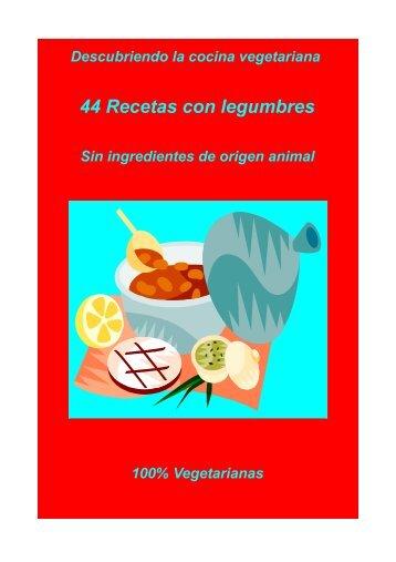 44 Recetas con legumbres - Unión Vegetariana Española