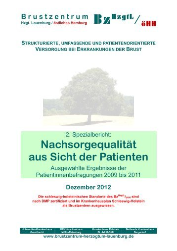 Nachsorgequalität aus Sicht der Patientinnen - Brustzentrum ...
