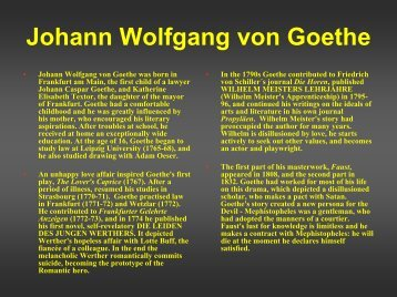 Johann Wolfgang von Goethe - British Forces Germany