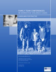 Family Team Conferences in Domestic Violence Cases - Iowa ...