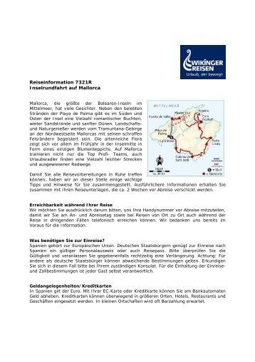 Reiseinformation 7321R Inselrundfahrt auf Mallorca - Wikinger ...