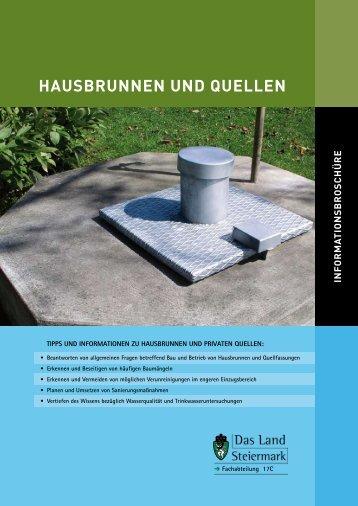 hausbrunnen unD QueLLen - Umweltinformation Steiermark