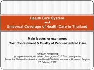 Health Care System and Universal Coverage of Health ... - COOPAMI