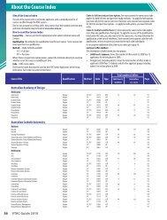 2010 Course Index - VTAC