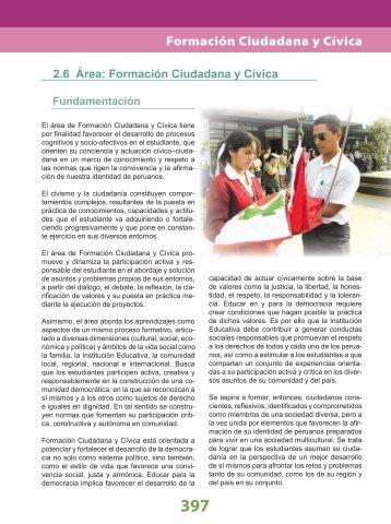 Formación Ciudadana y Cívica - La Educación Básica Regular - EBR