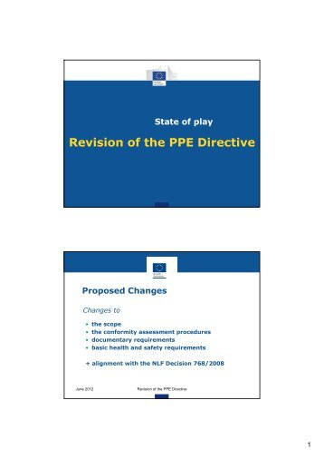 Revision of the PPE Directive - AFNOR Certification