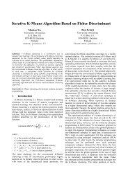 Iterative k-means algorithm based on Fisher discriminant