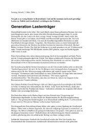Generation Lastenträger - Uwe Roth