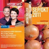 MUSIK THEATER AUSSTELLUNGEN - MAGAZIN JENA + Saaleland
