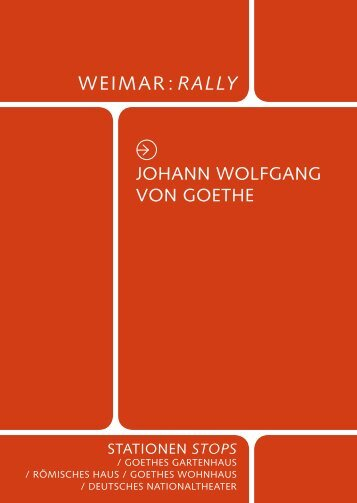 Tour Goethe - Klassik Stiftung Weimar