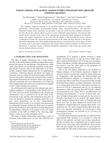 Analytical solutions of the geodesic equation in higher dimensions